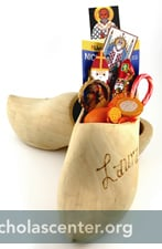Wooden shoes with treats