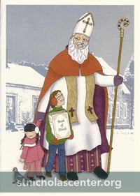 St Nicholas Card with Children