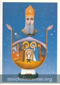 St Nicholas Card with Nativity