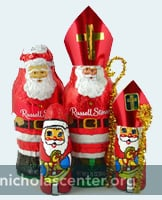 Chocolate Santa into St Nicholas