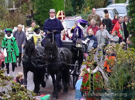 Sinterklaas in horse carriage