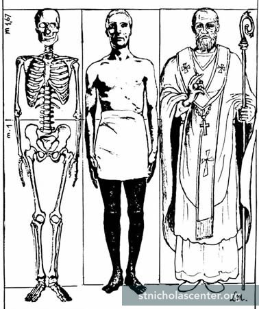 Skeleton, figure, vested figure sketches