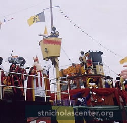 Sinterklaas on ship