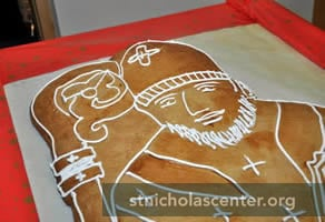 St Nicholas speculatius close-up
