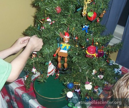 To Tide Them Over, We Have The St. Nicholas Tree, A Tabletop Artificial  Tree That Lives In The Attic And Comes Out On December 6th, The Feast Day  Of St. ...