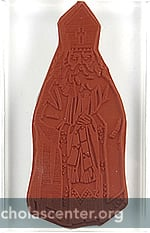Full-figure St Nicholas rubber stamp
