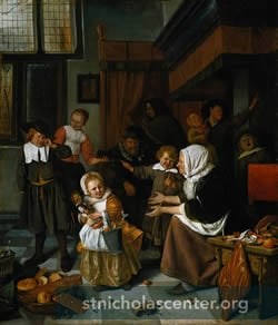 Dutch family scene