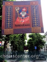 Street with St Nicholas banner