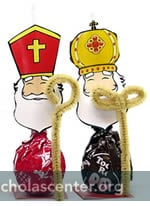 St Nicholas Tootsie Pop with chenille croziers
