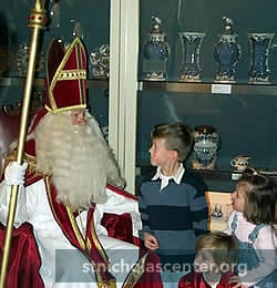 Sinterklaas with children