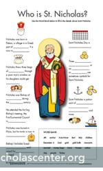 St Nicholas Activity Sheet