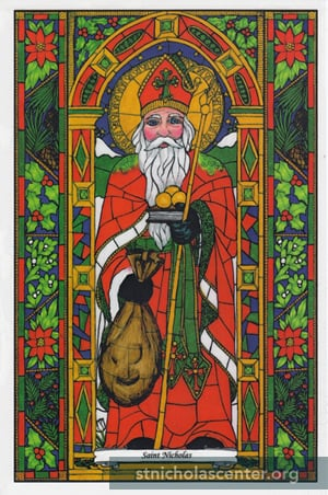 St Nicholas Window Cling